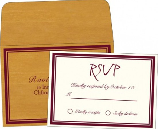 Rsvp Cards-A2zWeddingCards