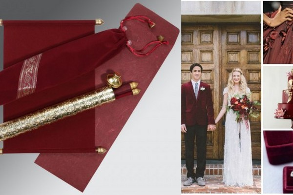 Marsala Wedding Theme-A2zweddingcards