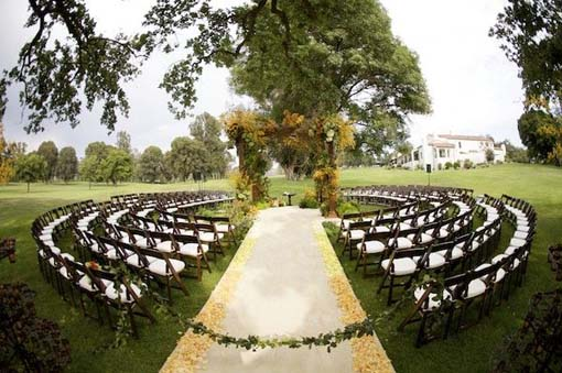 Romantic Wild West Wedding Reception Space