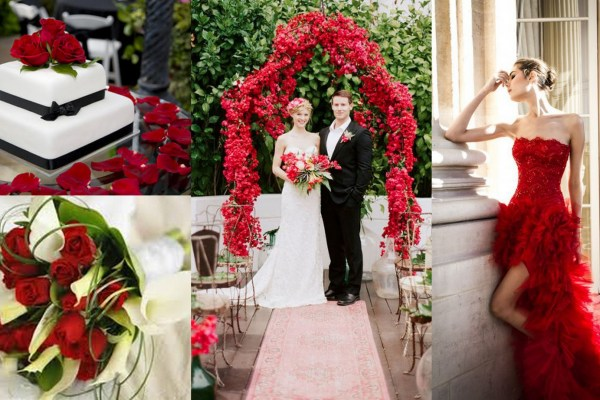 Red and White Color Wedding Theme-A2zWeddingCards