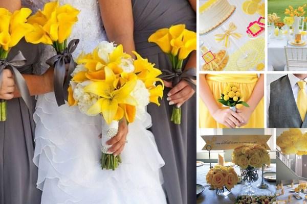 Yellow and Grey Wedding Theme-A2zWeddingCards