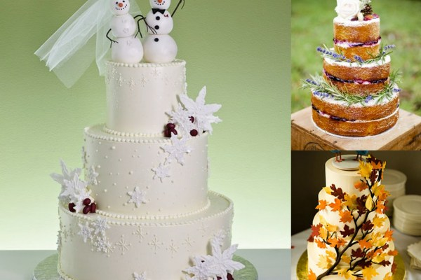 Citrus and Snow Wedding Cake - A2zWeddingCards