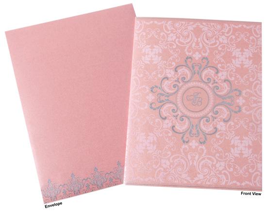 Dusky Pink Wedding Invitation