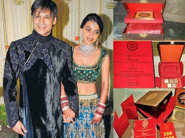 Vivel Oberoi and Priyanka Alva's Wedding Invitations - A2zWeddingCards