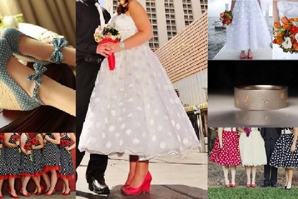 Polka dot Theme Wedding - Wedding Attire -A2zWeddingCards