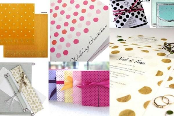 Polka dot Theme Wedding - Wedding Invitations-A2zWeddingCards