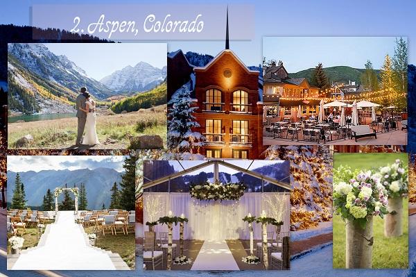 Cheapest Wedding Locations - Aspen Colorado - A2zWeddingCards