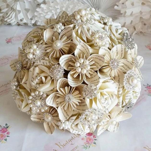 Paper Wedding Bouquetpaper - Harry Potter Theme Wedding Ideas