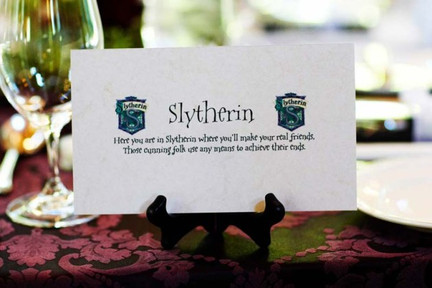 Place Cards 1 - Harry Potter Theme Wedding Ideas