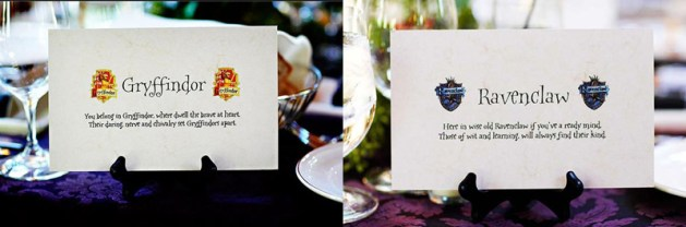 Place Cards 3 - Harry Potter Theme Wedding Ideas