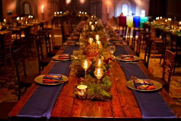 Table Decoration - Harry Potter Theme Wedding Ideas
