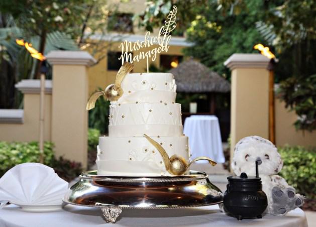 Wedding Cake - Harry Potter Theme Wedding Ideas