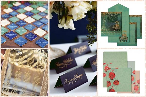 Colourful wedding invitation - A2zWeddingCards