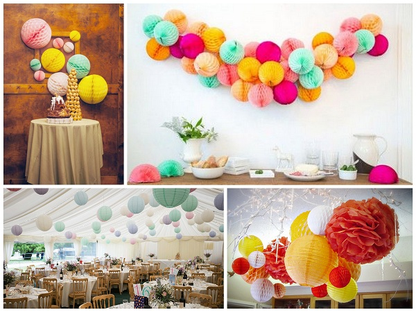 Honeycomb diamonds Balls Wedding Decor - A2zWeddingCards
