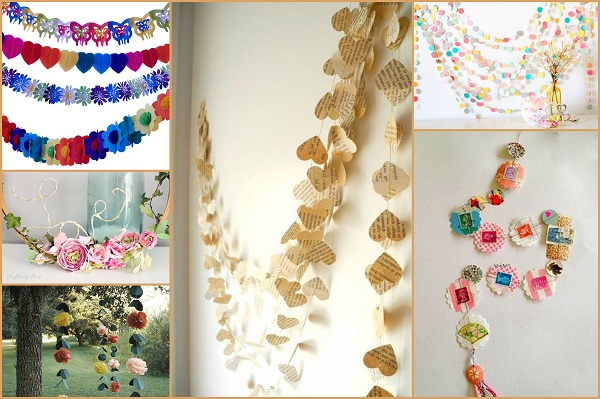 Paper garlands Wedding Decor Ideas - A2zWeddingCards
