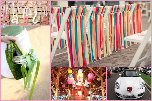 Ribbons Wedding Decor Ideas - A2zWeddingCards