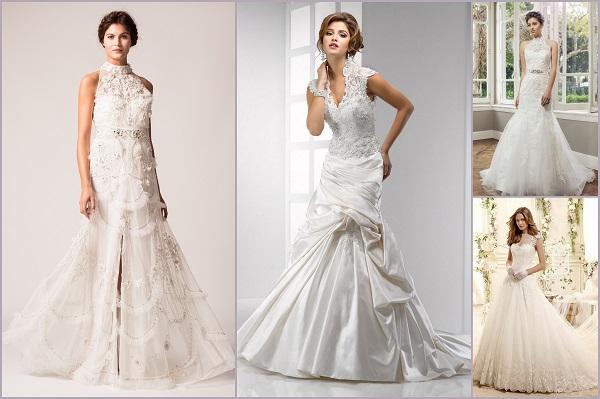 High collared dresses trends - A2zWeddingCards