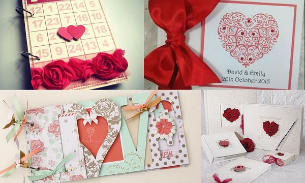 7.Valentine Wedding Theme Guestbook - A2zWeddingCards