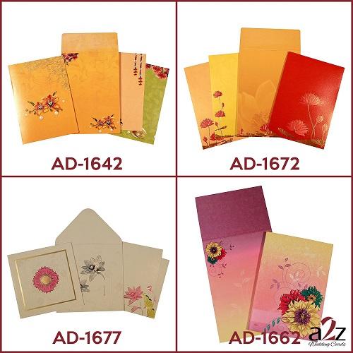 8. Floral wedding invitations - A2zWeddingCards