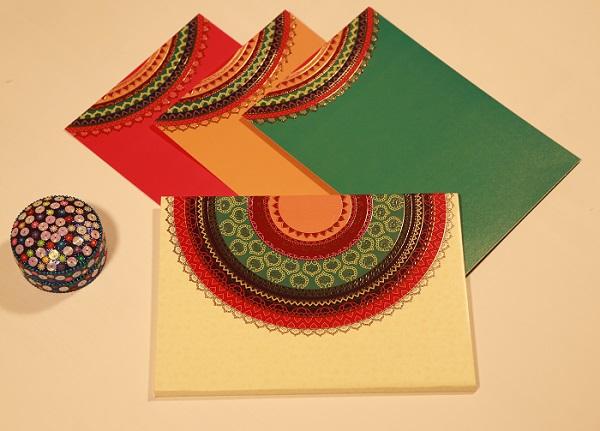 Colorful Wedding Invites-A2zWeddingCards