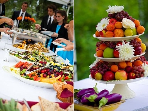 Food in these organic weddings- A2zWeddingCards