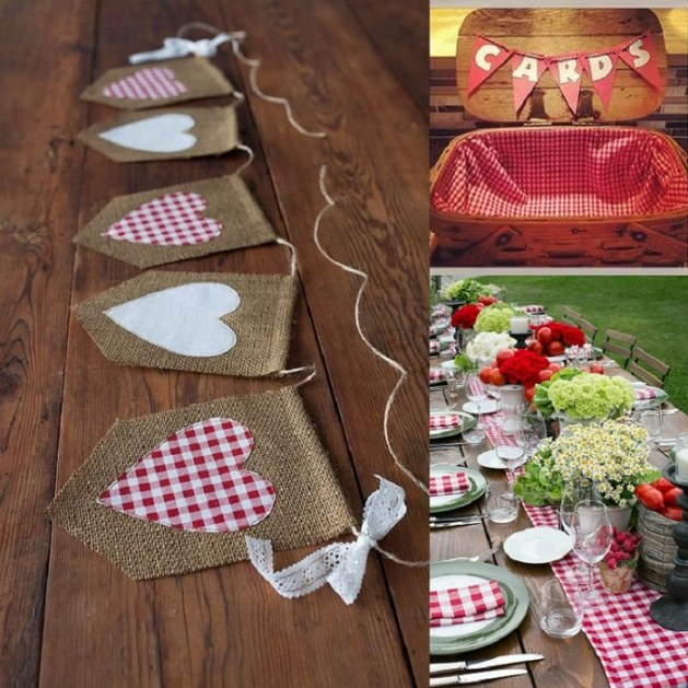 DIY gingham wedding inspirations Decoration - A2zWeddingCards