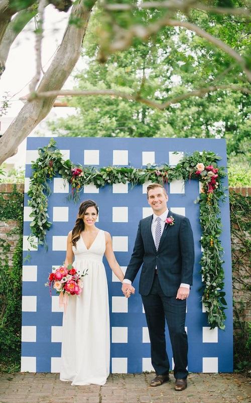 Wedding Altar in Gingham Style- A2zWeddingCards