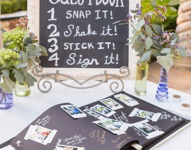 Love letter style guest books for your wedding