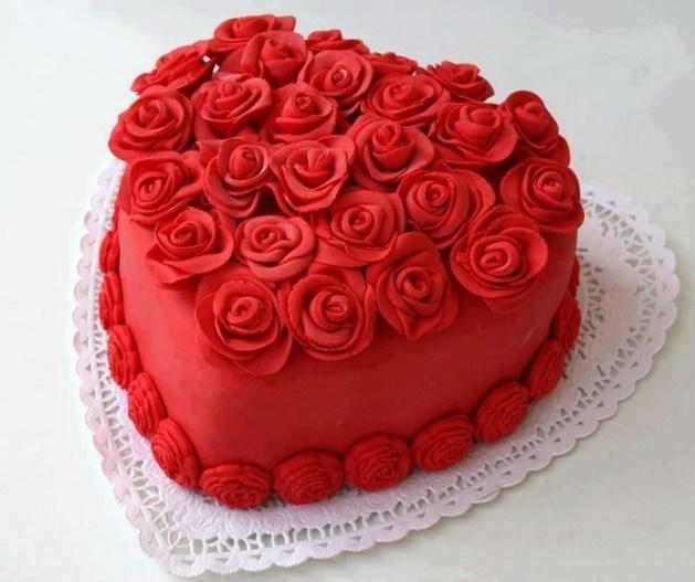 valentine themed wedding cake