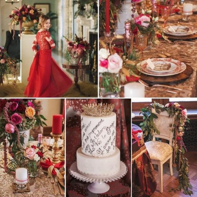 red wedding for Valentine day