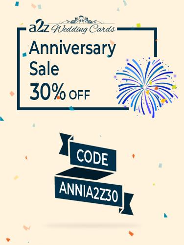 Wedding Invitations Sale 20% OFF - A2zWeddingCards