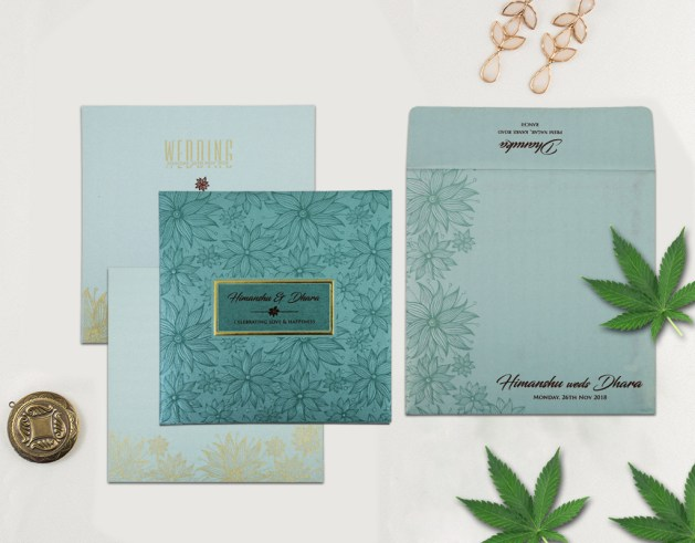 Floral Wedding Invitations - A2zWeddingCards