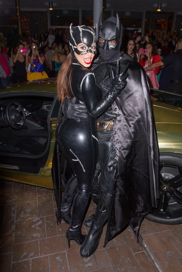 Kim Kardashian Kanye West Catwoman Batman