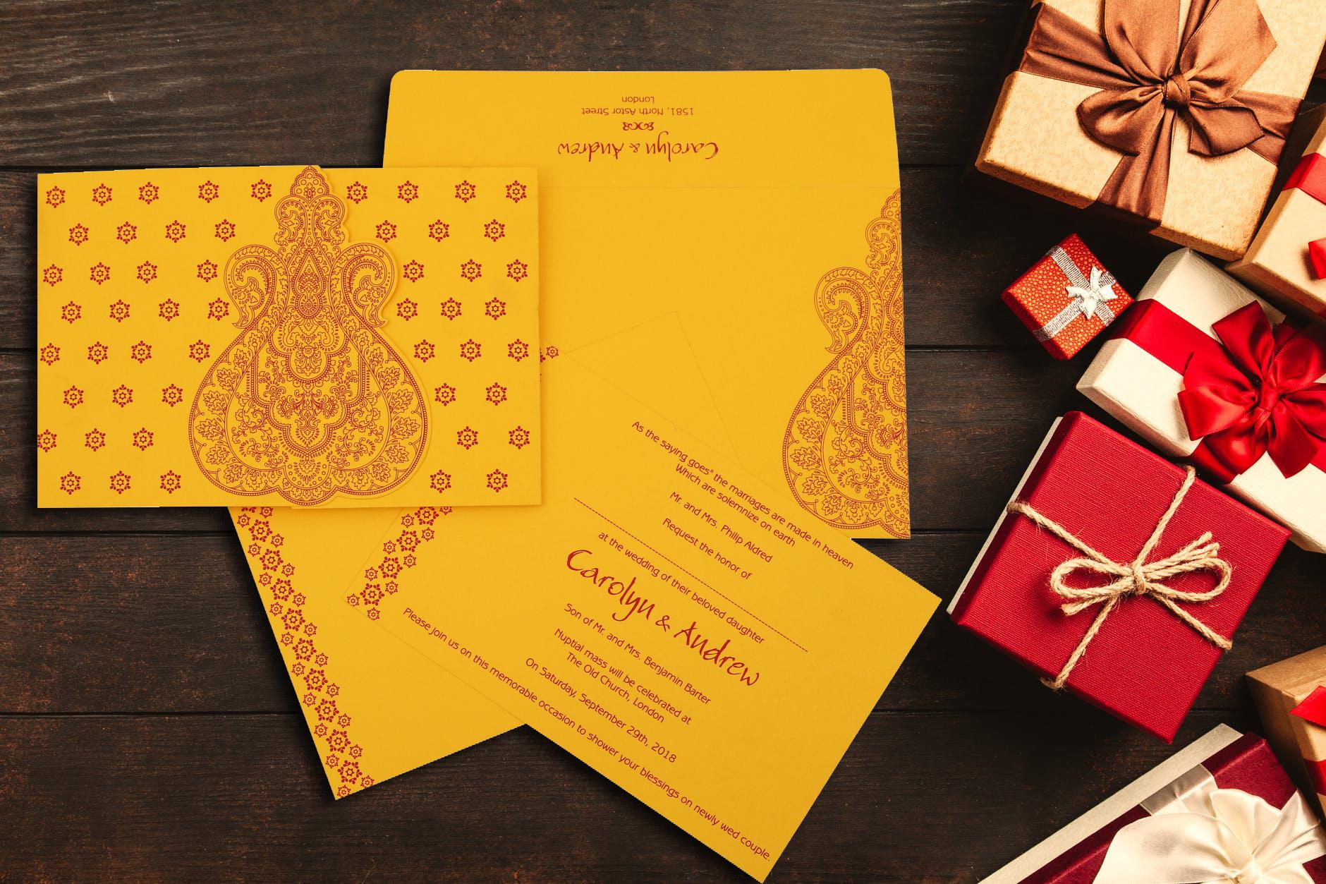 hindu wedding invitations marriage
