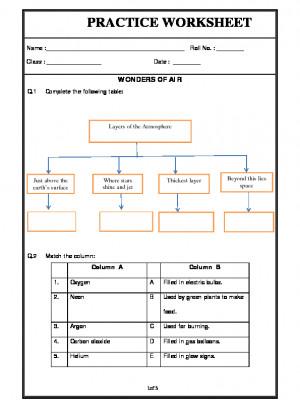 A2zworksheets Worksheet Of Wonders Of Air Air Basic