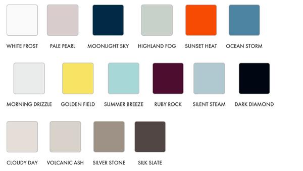 Colores Alucobond Focus y Master