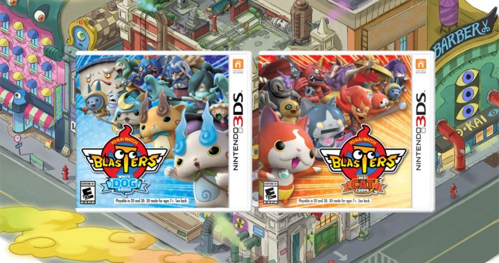 YO-KAI WATCH BLASTERS: Red Cat Corps and YO-KAI WATCH BLASTERS: White Dog Squad games