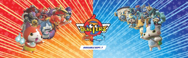 YO-KAI WATCH BLASTERS: Red Cat Corps and YO-KAI WATCH BLASTERS: White Dog Squad