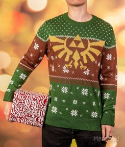 Legend of Zelda: Tinsel and Triforces Knitted Christmas Sweater