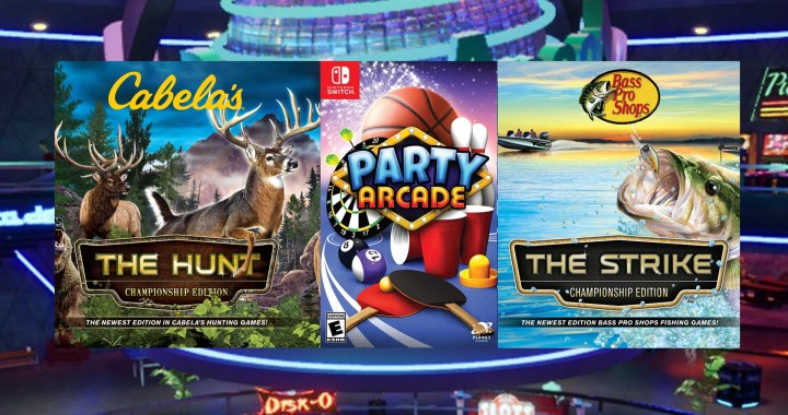 CABELA'S THE HUNT AND BASS PRO SHOPS THE STRIKE CHAMPIONSHIP EDITIONS AND PARTY ARCADE AVAILABLE TO PREORDER ON NINTENDO SWITCH