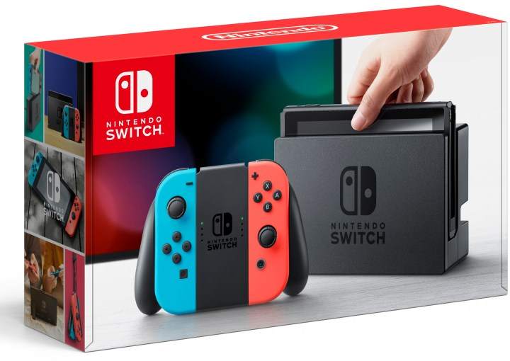 The Cyber Monday deal applies to the base Nintendo Switch system with either Gray Joy-Con controllers or Neon Red and Neon Blue Joy-Con controllers
