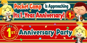 Animal Crossing: Pocket Camp One-Year Anniversary Event