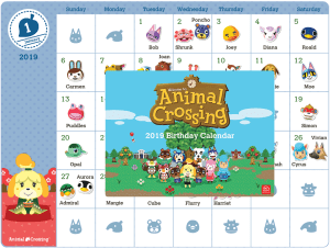 My Nintendo: Printable - Animal Crossing™ 2019 Birthday Calendar