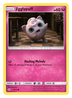 Pokémon Trading Card (TCG) game featuring JigglyPuff