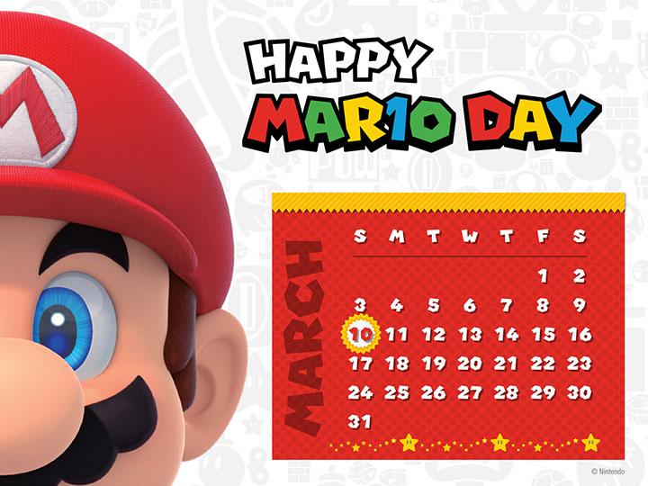 My Nintendo is offering a March calendar