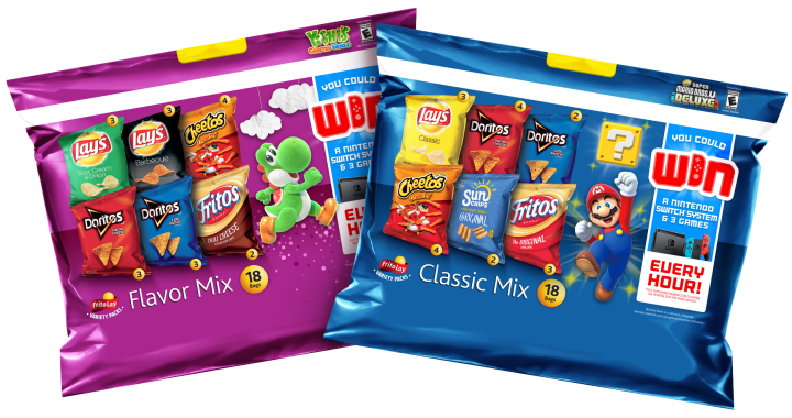 Nintendo Switch and Frito-Lay Variety Packs Make Snack Time a Little More Super (Mario)
