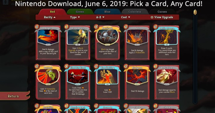 Nintendo Download, June 6, 2019: Pick a Card, Any Card!