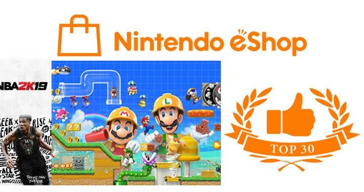 Switch eShop charts Ending June 29th 2019