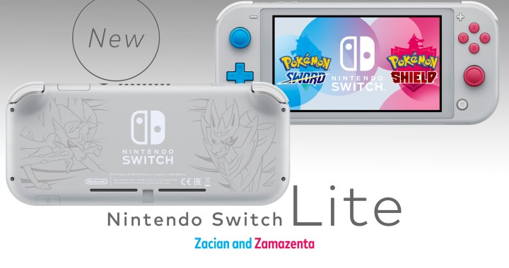 The Nintendo Switch Lite Zacian and Zamazenta Edition Announced