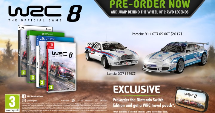 WRC 8, the official video game of the FIA World Rally Championship, now available for pre-orders